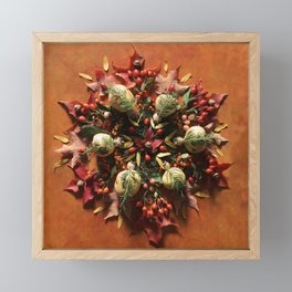 Nature Mandala: October II Framed Mini Art Print