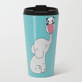 Kawaii Cute Elephant And Panda Travel Mug