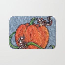 Pumpkin Patch Chipmunks Bath Mat