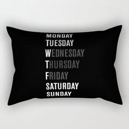 Black WFT Week Rectangular Pillow