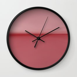 Soft Blush Pink Two Toned Abstract Wall Clock