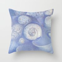 shells Throw Pillows featuring shells by Claudia Drossert