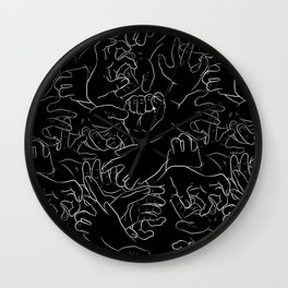 Hands On Black Wall Clock