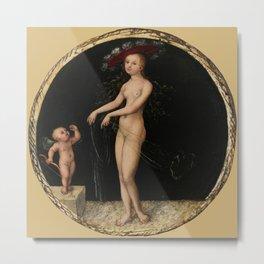 "Lucas Cranach the Elder ""Venus and Cupid"" Metal Print"