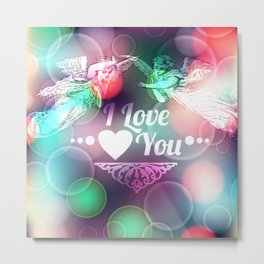 Love Background with Angels  Metal Print