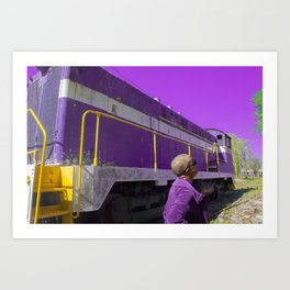 Purple, and other colors of existence Art Print