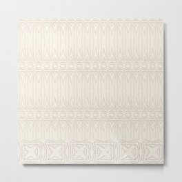 Cream and Coffee Chenille Digital Pattern Metal Print