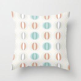 Retro midcentury geometric: Partenone Throw Pillow