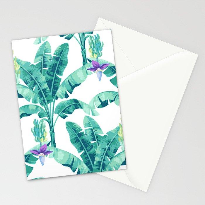 Banana leaf bloom Stationery Cards