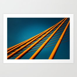 Trần Thị Lý Suspension Bridge in Da Nang, Vietnam Art Print