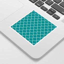 Quatrefoil - Teal Sticker