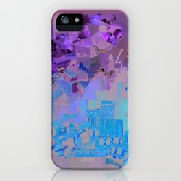"""""""Green Sky"""" / Ciel vert / atypic art - Collage by WHITEECO Ecologic design iPhone Case"""