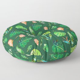 Tropical Paradise Green Floor Pillow