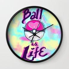 Pokeball is Life Wall Clock