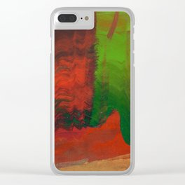 Red Green and Gold Clear iPhone Case