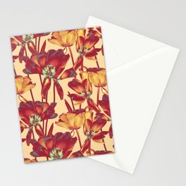 Tulips in Forever Golden Stationery Cards