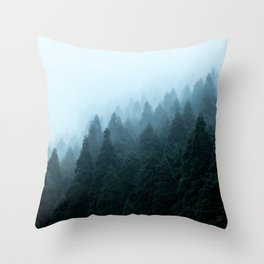 Japanese Forest Throw Pillow