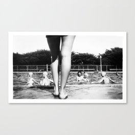 A Day At The Pool Canvas Print