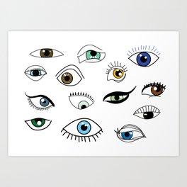 Eye game Art Print