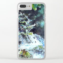 silk painting of Blodgett Canyon Clear iPhone Case