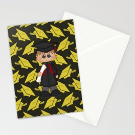Cute Little Graduation Boy Stationery Cards