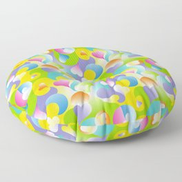 Swirling Hearts in Pastels Floor Pillow