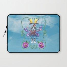 Angel Kitty (Turquoise) Laptop Sleeve