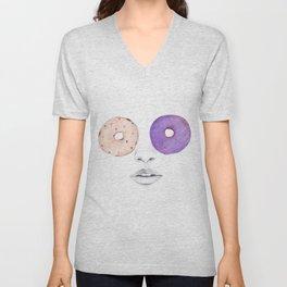 Donut Eyes Unisex V-Neck