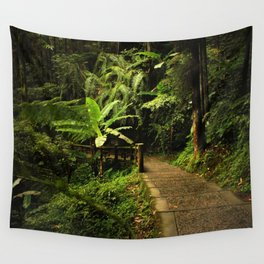Tropical Forest Path Wall Tapestry