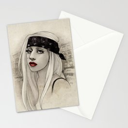 New York Woman born to run you down Stationery Cards