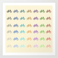 bicycles Art Prints featuring Bicycles by George Hatzis