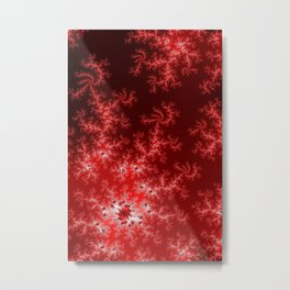 Glowing Red Fractal Metal Print