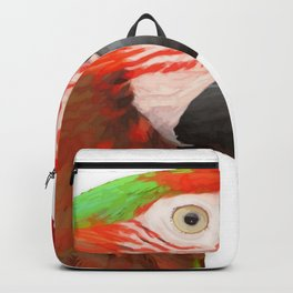 A Beautiful Bird Harlequin Macaw Portrait Background Removed Backpack