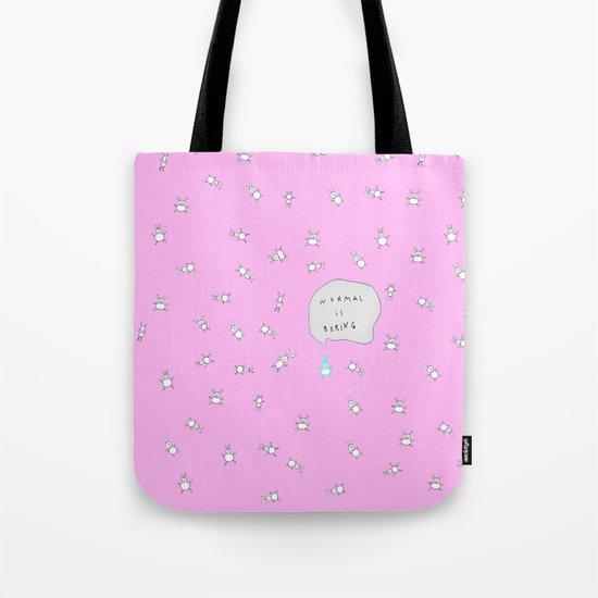 NORMAL IS BORING PINK Tote Bag