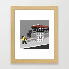 BruceLee Commodore 64 game tribute Framed Art Print