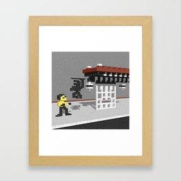BruceLee Commodore 64 game tribute Framed Art Print