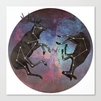 constellation Canvas Prints featuring Constellation by Jamie Mitchell