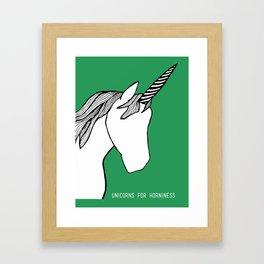 Unicorns for Horniness Framed Art Print
