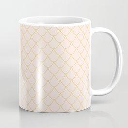 Cream Mermaid Scales Coffee Mug