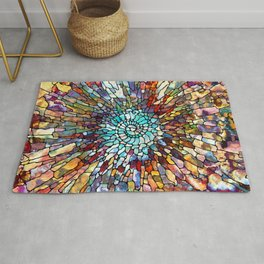 Stained Glass Spiraling Rug