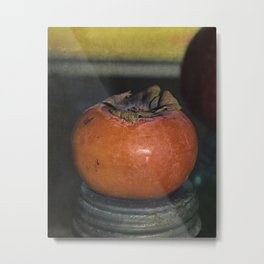 Persimmon Still Life Metal Print