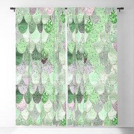 SUMMER MERMAID - GREEN & PINK Blackout Curtain