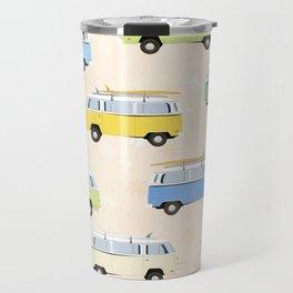 Summer surf bus pattern Travel Mug