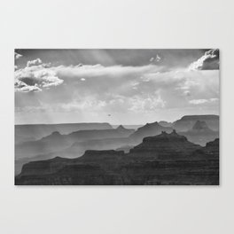Helicopter on the Grand Canyon | Watchtower Point | Arizona (Usa) Canvas Print