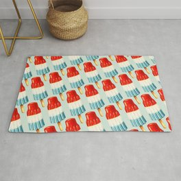 USA 4th of July Popsicle Pattern Rug