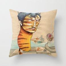 EASY, TIGER Throw Pillow