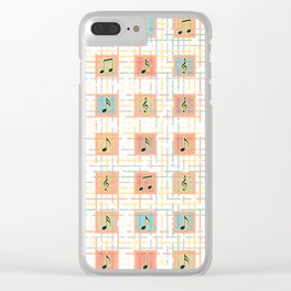Music notes IV Clear iPhone Case