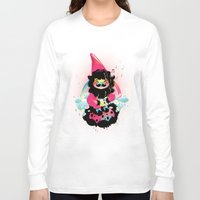 gnome Long Sleeve T-shirts featuring Whistling gnome by Meni Tzima