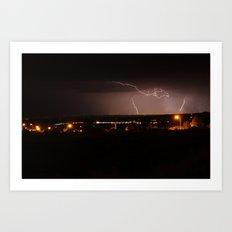 Electrical Storm over Santa Fe, NM Art Print