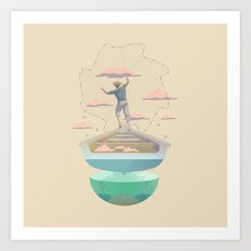 Clouds fisherman Art Print